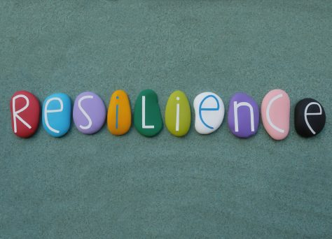 Resilience Written on Colourful Stones To Represent Resilient Foster Parents in Essex and Suffolk